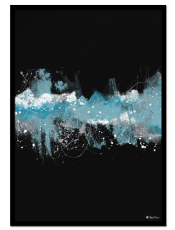 Dazzling Milkyway poster | Abstract art print made from acrylic paint with digital modifications.