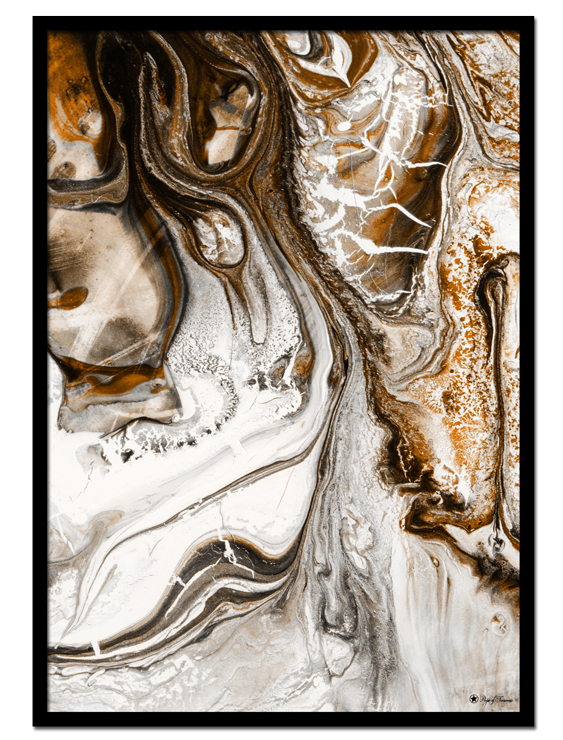 Liquified poster | Abstract art print made from acrylic paint with digital modifications.