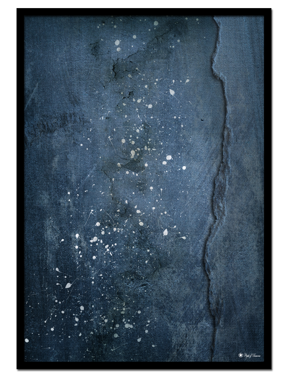 The Deep Blue poster | Abstract art print made from acrylic paint with digital modifications.