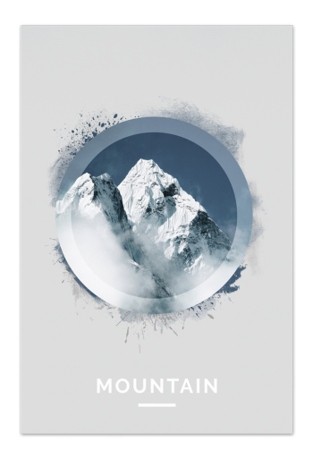 Mountain Art Card | Art doesn't have to be big to make a big impression. With a selection of unique art work printed on high quality paper, these are a versatile type of art for all sorts of occasions