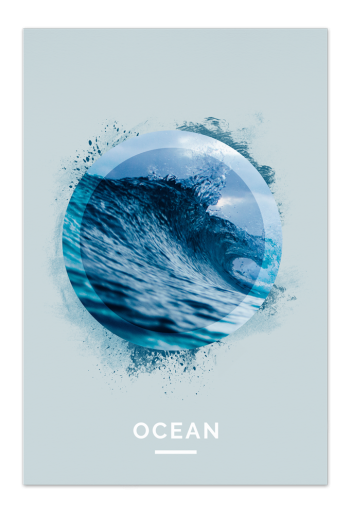 Ocean Art Card | Art doesn't have to be big to make a big impression. With a selection of unique art work printed on high quality paper, these are a versatile type of art for all sorts of occasions