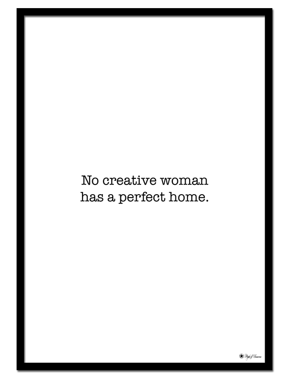Spoken Truth #2 poster | Many creative women can relate to this text poster, can't we? Minimal print with typewriter font is the perfect addition to any gallery wall, or as a statement alone.