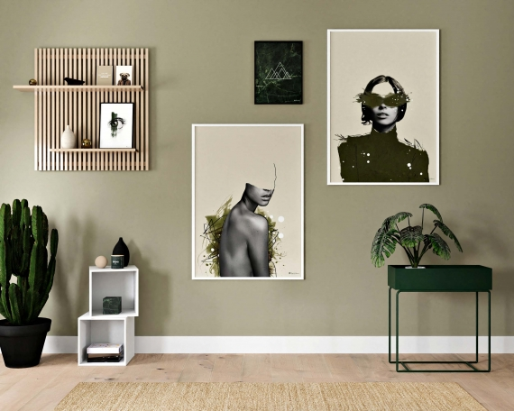 Major Green poster | Give your walls a calm and interesting look with art in olive green color combinations. Make your home feel alive with eye-catching poster art.