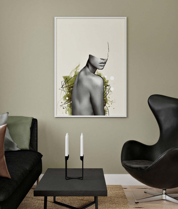 Olive poster | Give your walls a calm and interesting look with art in olive green color combinations. Make your home feel alive with eye-catching poster art.