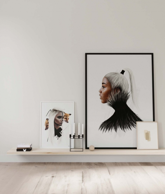 Aria poster | Fierce art print in a gorgeous color set. Perfect for the Nordic and Scandinavian home.