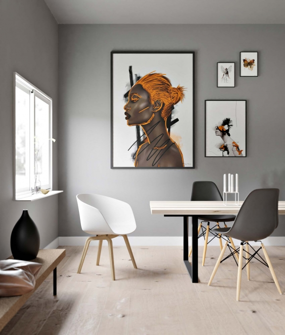 Imperfections poster | Eye-catching design with bright orange strokes. Looks amazing in a large format.