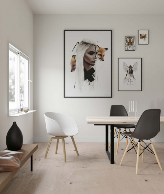 Nera poster | Fierce art print in a gorgeous color set. Perfect for the Nordic and Scandinavian home.