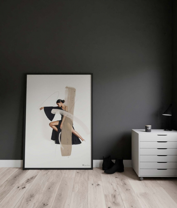 Neutral Basics poster | Wall art in beautiful neutral colors. Perfect in a black or wooden frame.