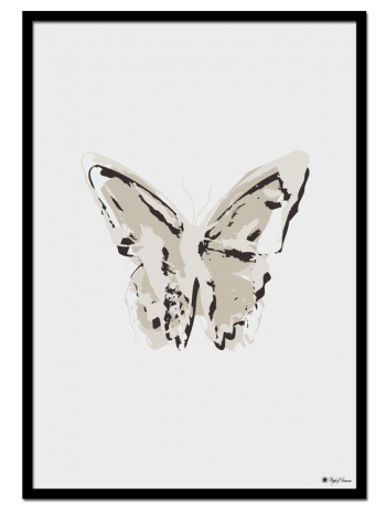 Nude Butterfly poster | Abstract butterfly art print in smooth, nude colors. Will be perfect in a nordic styled home.