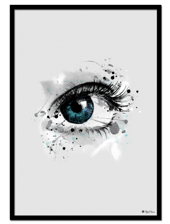 "Blue Sparkle Eye poster | ""I've caught sparkles in a few people's eyes. The light shines off these eyes and they command my attention. What makes them glow? It's energy and joy, I'd like to guess."""
