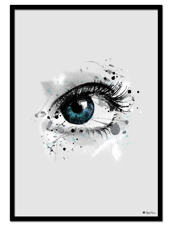"""Blue Sparkle Eye poster 