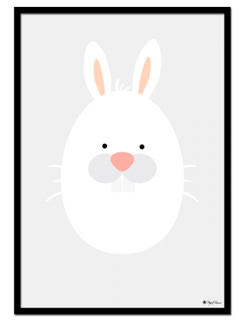 Bunny Egghead poster | Explore our wall art for the youngsters! Decorate the kids room with cute and playful posters from our Kids Collection!