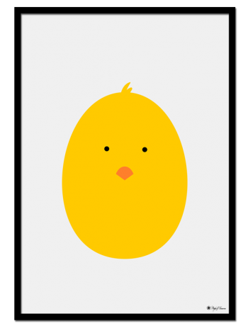 Chicken Egghead poster | Explore our wall art for the youngsters! Decorate the kids room with cute and playful posters from our Kids Collection!