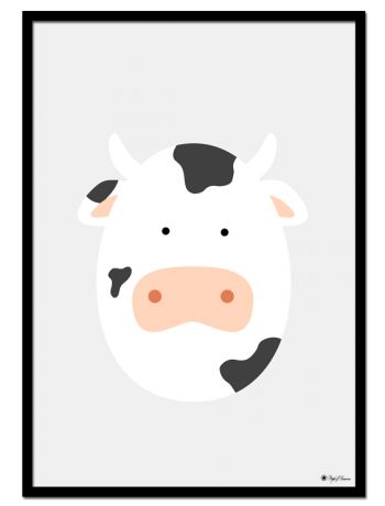 Cow Egghead poster | Explore our wall art for the youngsters! Decorate the kids room with cute and playful posters from our Kids Collection!