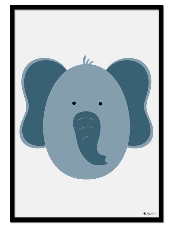 Elephant Egghead poster | Explore our wall art for the youngsters! Decorate the kids room with cute and playful posters from our Kids Collection!