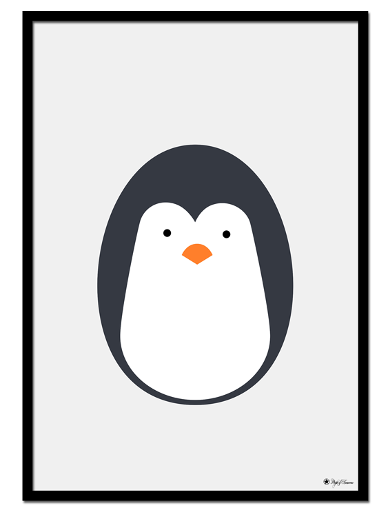 Penguin Egghead poster | Explore our wall art for the youngsters! Decorate the kids room with cute and playful posters from our Kids Collection!