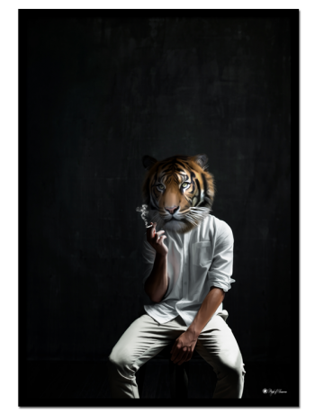 The Waiting Game poster | Our favorite animal, the tiger, is again the center of attention in one of our art prints. Decorate with a poster that not only looks cool, but also maybe tells a mysterious story?