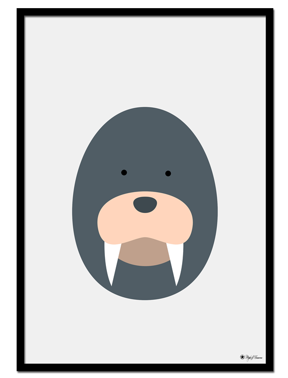 Walrus Egghead poster | Explore our wall art for the youngsters! Decorate the kids room with cute and playful posters from our Kids Collection!