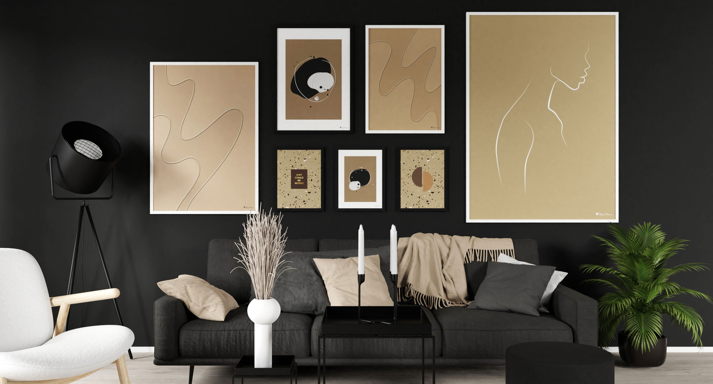 Posters that will pop on black walls   Blog