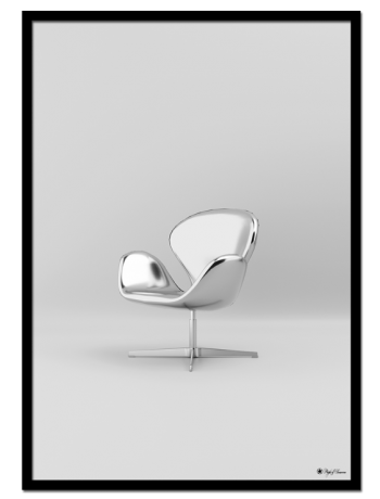 Chrome Swan Chair