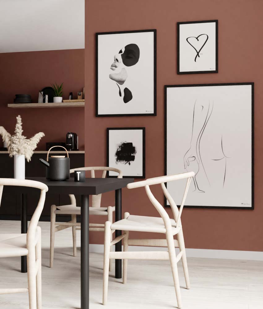 We have made it easier for you to create the perfect gallery wall! Choose the sizes you like and shop the look! Let our interior stylings inspire you!