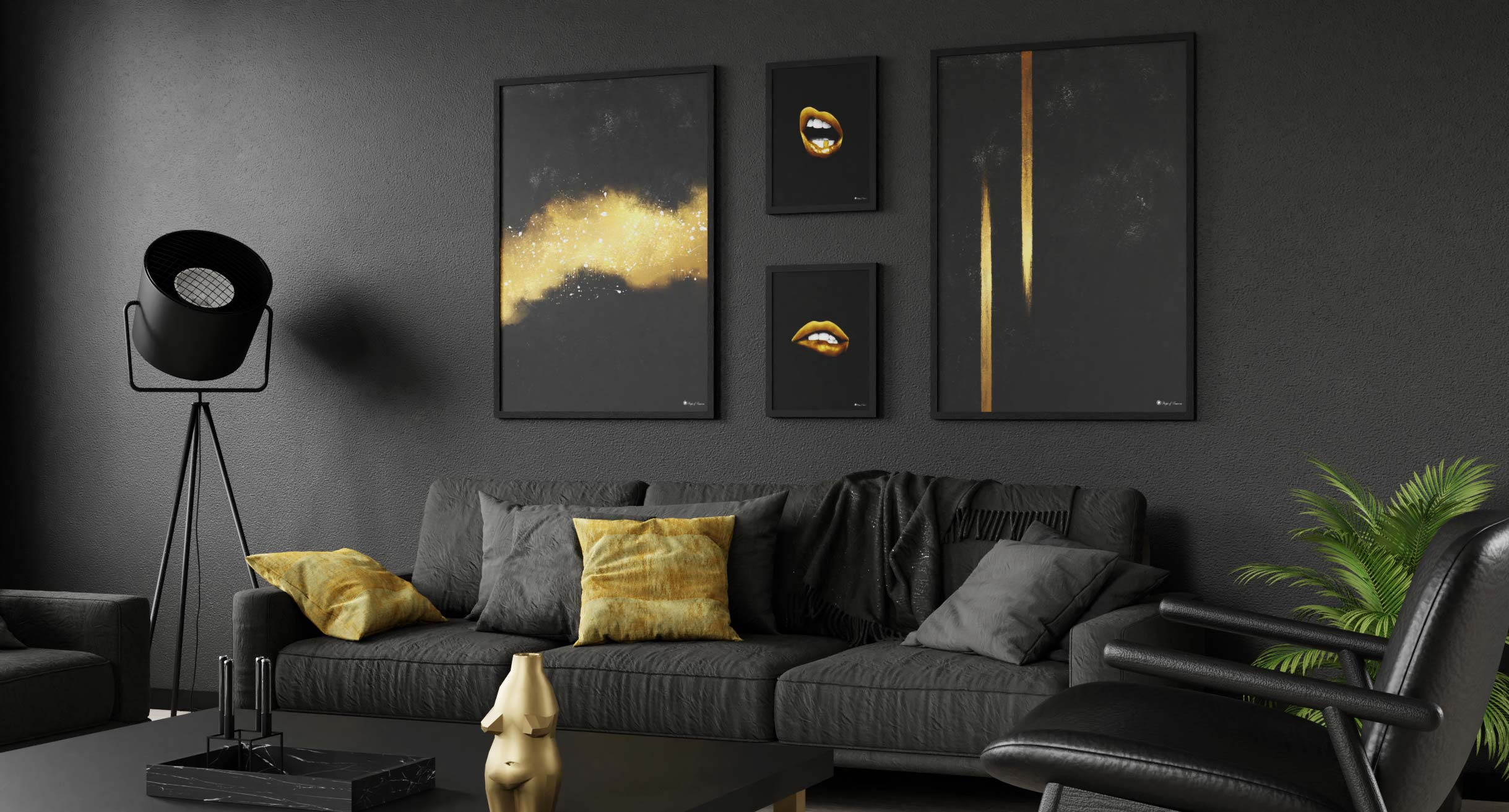 Luxury with Black & Gold   Posters & Art Prints   People of Tomorrow