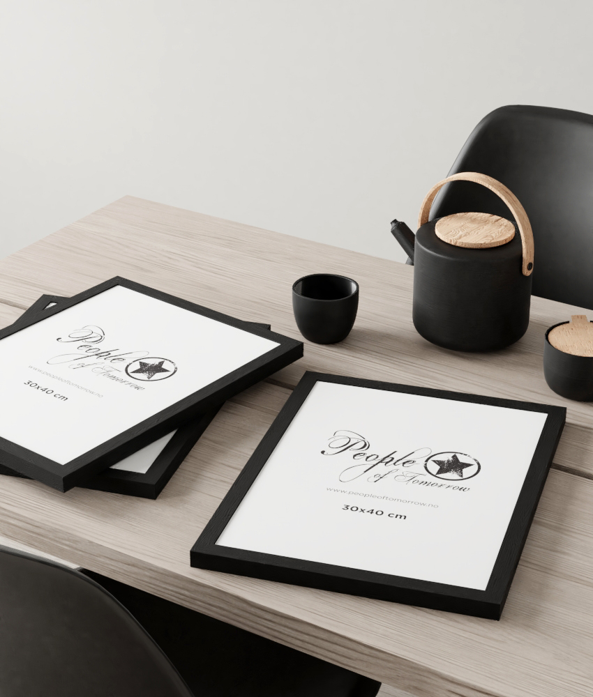 Black Wooden Picture Frames |Posters & Art Prints | People of Tomorrow