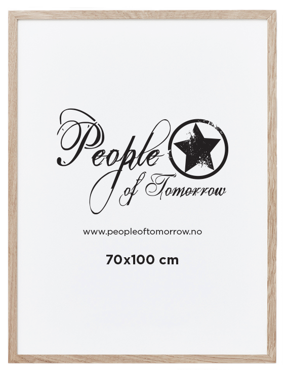 Natural Oak Frame 70x100 cm cm   Frames   Posters   People of Tomorrow