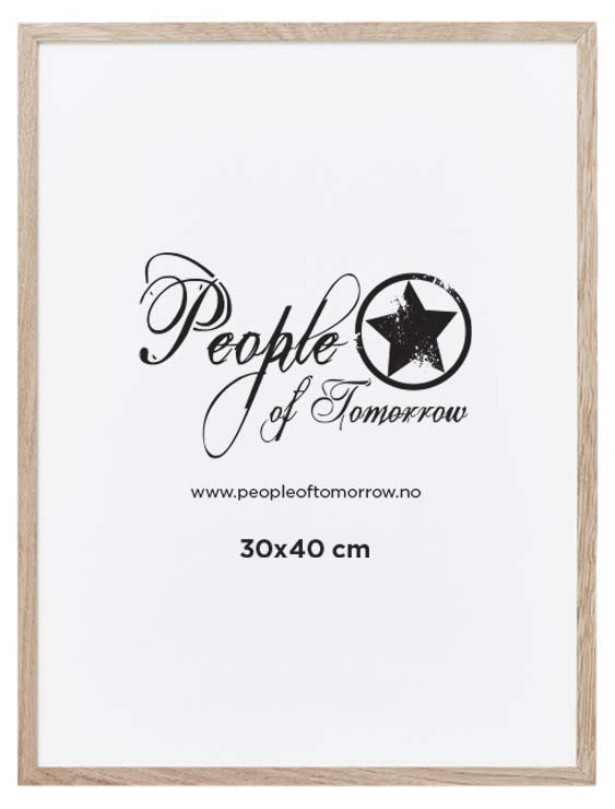 Natural Oak Frame 30x40 cm cm   Frames   Posters   People of Tomorrow